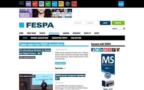 Screenshot of Press Page fespa.com - FESPA Print Associations News, Printing Associations News - captured Sept. 24, 2014