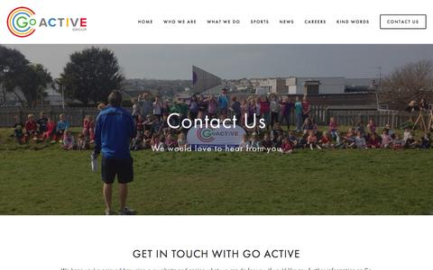 Screenshot of Contact Page go-active.org - Contact Us — Go Active Coaching - captured Jan. 31, 2016