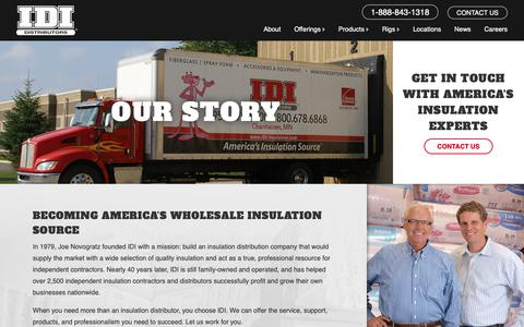 Screenshot of About Page idi-insulation.com - About Us   IDI Distributors - captured Sept. 30, 2018