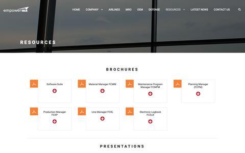 Screenshot of Case Studies Page empowermx.com - Airline Maintenance Resources   EmpowerMX - captured Nov. 5, 2018