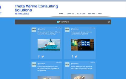 Screenshot of Press Page thetamarine.net - ThetaMarine Consulting, greece, marine consulting, inspect, | NEWS - captured Dec. 23, 2016