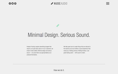 Screenshot of About Page nudeaudio.com - NudeAudio | About - captured Oct. 27, 2015