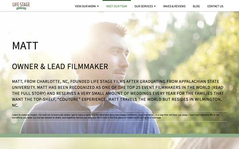 Screenshot of Team Page lifestagefilms.com - Meet Our Team | Life Stage Films - captured Jan. 29, 2016