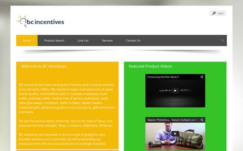 Screenshot of Services Page bcincentives.com - BC Incentives > Home - captured Sept. 30, 2014