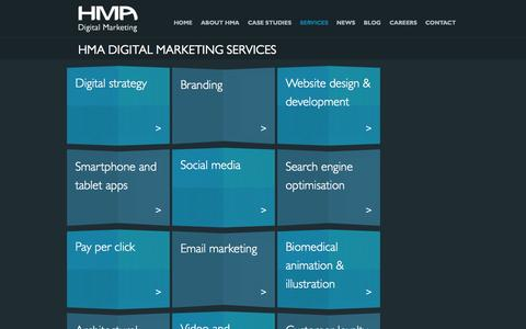 Screenshot of Services Page hma.co.uk - HMA Digital Marketing Services - HMA Digital Marketing - captured Oct. 1, 2014