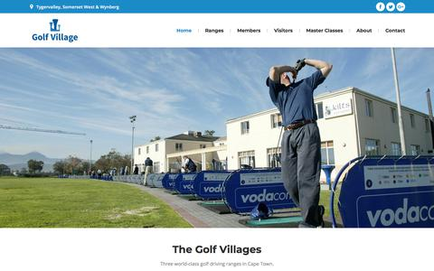 Screenshot of Home Page thegolfvillage.co.za - The Golf Villages | Golf School & Driving Ranges | Cape Town - captured Sept. 25, 2018