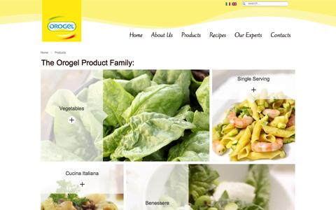 Screenshot of Products Page orogel.it - Products - captured Oct. 8, 2014
