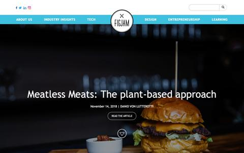 Screenshot of Home Page figjamco.com - Figjam - Knowledge platform for the global F&B Industry - captured Nov. 14, 2018