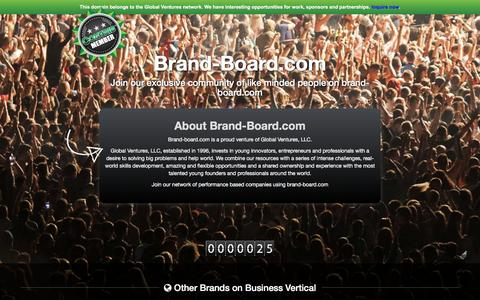 Screenshot of About Page brand-board.com - About Brand-board.com - captured July 30, 2016