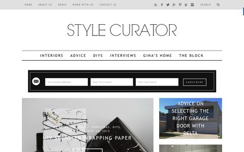 Screenshot of Home Page stylecurator.com.au - STYLE CURATOR - latest home decorating, design, DIYs, home tours and interviews with people in the industry - captured Dec. 21, 2015
