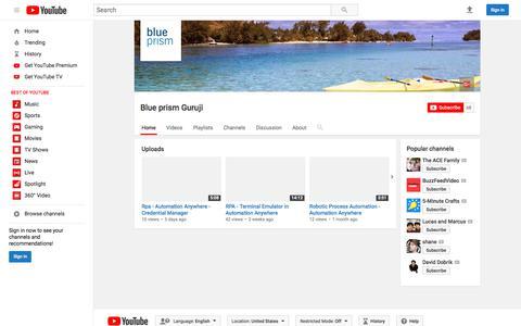 Blue prism Guruji  - YouTube