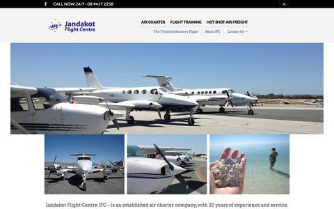 Screenshot of Home Page jfc.net.au - Jandakot Flight Centre Air Charter flights & Scenic Flight services - captured Sept. 24, 2017