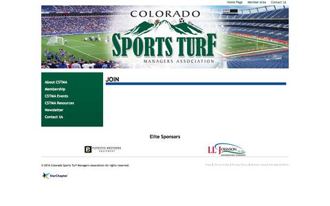 Screenshot of Signup Page cstma.org - Colorado Sports Turf Managers Association - Join - captured June 4, 2016
