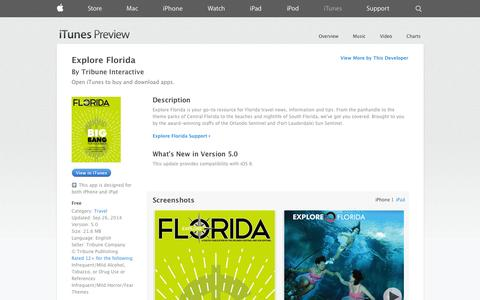 Screenshot of iOS App Page apple.com - Explore Florida on the App Store on iTunes - captured Oct. 29, 2014