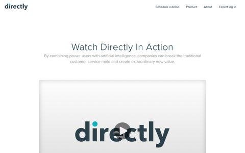 Screenshot of directly.com - Customer engagement platform — Directly - captured April 26, 2017