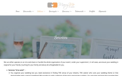 Screenshot of Services Page marrymeinspain.com - Services | Marry me in Spain - captured Sept. 20, 2018