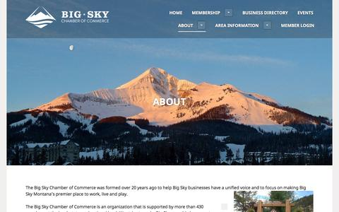 Screenshot of About Page bigskychamber.com - ABOUT - Big Sky Chamber of Commerce - captured Nov. 22, 2016
