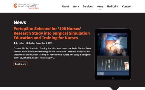 Screenshot of Press Page conquermobile.com - News - Conquer Mobile - captured Jan. 31, 2016