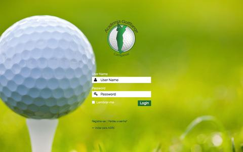 Screenshot of Login Page academiagolf.com.br - AGRC › Login - captured Feb. 5, 2016