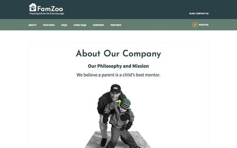 Screenshot of Team Page famzoo.com - About Our Company - captured Aug. 12, 2018