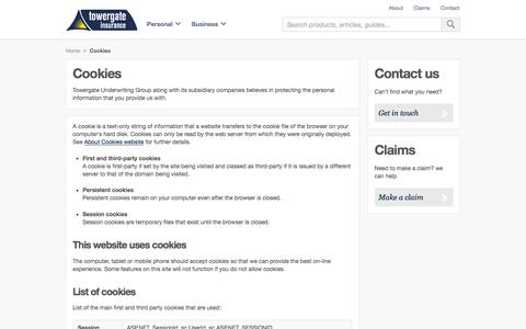 Find out why Towergate Insurance use cookies