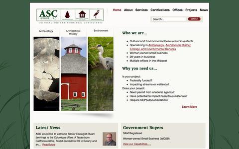 Screenshot of Home Page ascgroup.net - ASC Group, Inc. - captured Feb. 5, 2016