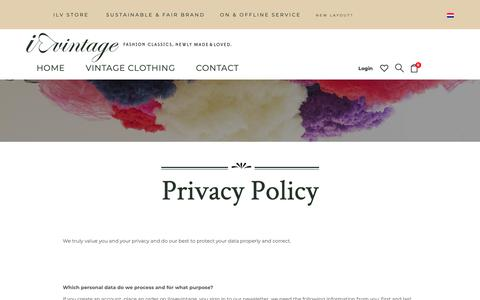 Screenshot of Privacy Page ilovevintage.com - Privacy Policy – I Love Vintage - captured Oct. 6, 2018