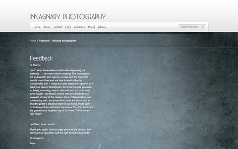 Screenshot of Testimonials Page imaginaryphotography.co.za - Feedback - Wedding photographer | Wedding Photography - Imaginary Photography - captured Sept. 30, 2014