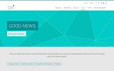 Screenshot of Press Page ppimedia.de - ppi Media | News & Blog - captured Sept. 30, 2018