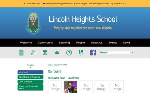 Screenshot of Team Page lincolnheights.school.nz - Our Staff - captured Feb. 20, 2018