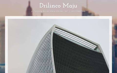 Screenshot of Home Page drilinco.com - Drilinco Maju - captured Sept. 26, 2018