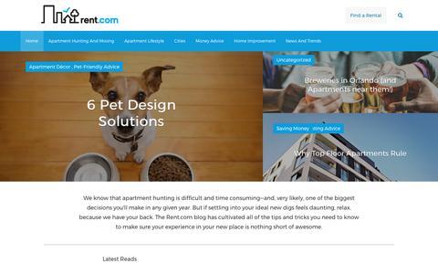 Screenshot of Blog rent.com - The Home for Apartment Rentals | Rent.com Blog - captured Nov. 3, 2017