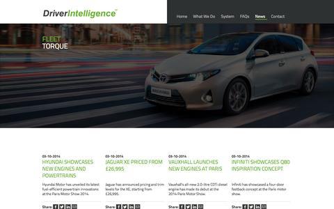Screenshot of Press Page driver-intelligence.com - News   Driver Intelligence - captured Oct. 5, 2014