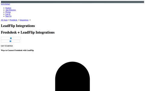 Freshdesk & LeadFlip Integrations | Zapier