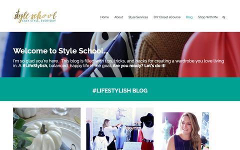 Screenshot of Home Page styleschooltv.com - #LifeStylish Blog | Style School KC - captured Nov. 18, 2018