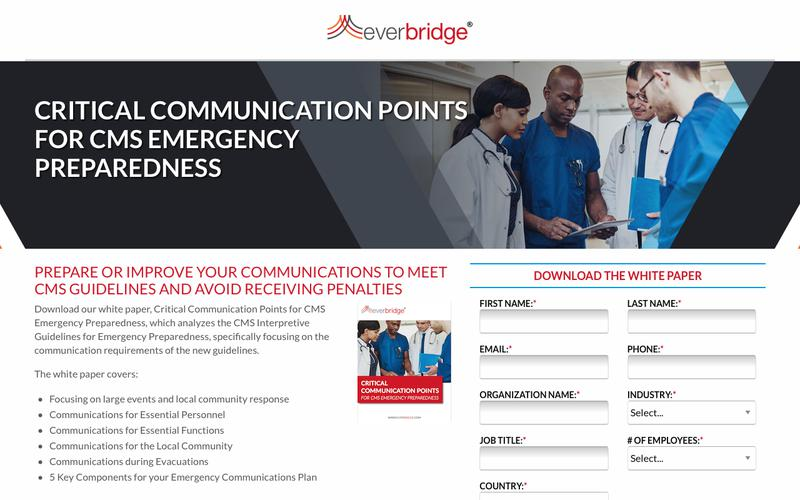 Critical Communication for CMS Emergency Preparedness