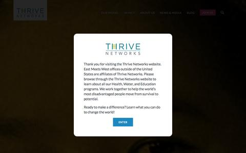 Screenshot of Testimonials Page eastmeetswest.org - Meet Thrive Networks -         Thrive Networks - captured Sept. 27, 2014
