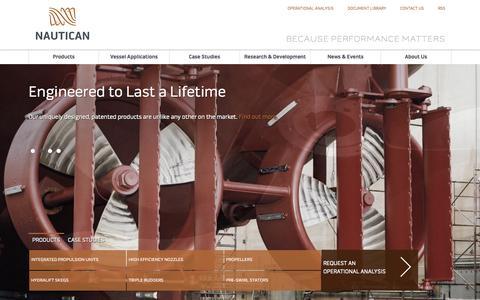 Screenshot of Home Page nautican.com captured Sept. 30, 2014