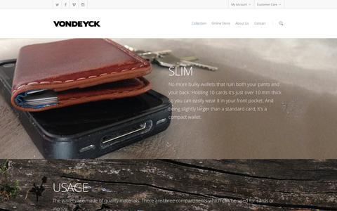 Screenshot of Products Page vondeyck.nl - Collection |  VONDEYCK - captured Oct. 26, 2014