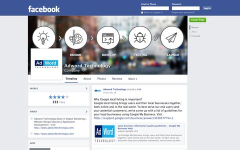 Screenshot of Facebook Page facebook.com - Adword Technology - New Delhi, India - Company | Facebook - captured Oct. 23, 2014
