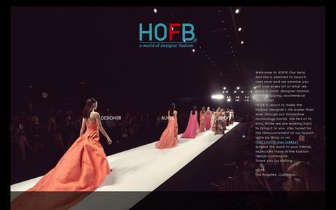 Screenshot of Home Page hofb.com - HOFB.com - captured Sept. 26, 2014