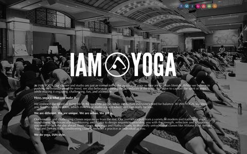 Screenshot of Home Page iamyoga.ca - Yoga Studios Downtown Toronto :: Hot Yoga Toronto :: IAM Yoga - captured Sept. 30, 2014