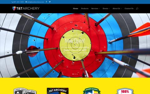 Screenshot of Home Page tandtarchery.com - T&T Archery – Sherwood Park, Alberta | T&T Archery is an archery shooting range selling products and services for Archers in Sherwood Park and the Edmonton Area. - captured Jan. 26, 2015