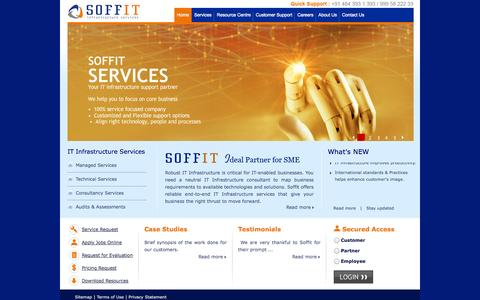 Screenshot of Home Page About Page Support Page soffit.in - Soffit Infrastructure Services, Kochi, Kerala, Managed Services Provider, Consulting - captured Oct. 6, 2014