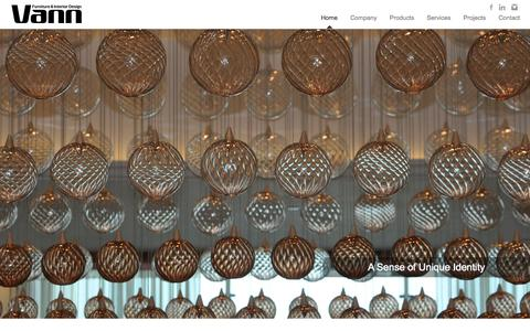 Screenshot of Home Page vannfid.com - Vann-FID - captured Jan. 26, 2015
