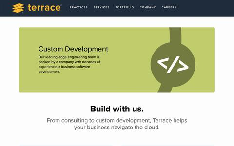 Screenshot of Home Page terrace.com - Terrace. Enterprise Technology Consulting. Cloud, eCommerce & Business Intelligence. - captured Nov. 14, 2016