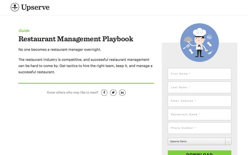 Become A Restaurant Manager Playbook | Upserve