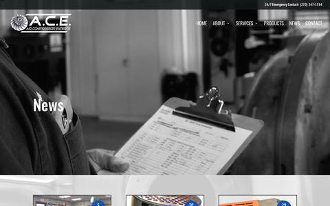 Screenshot of Blog acecompressorservices.com - News - ACE Compressor Experts - captured July 28, 2018