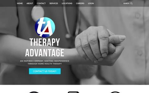 Screenshot of Home Page therapyadvantageinc.com - Therapy Advantage - Therapy Advantage - captured Feb. 28, 2016
