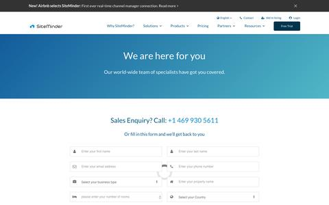 Contact SiteMinder - We are here for you